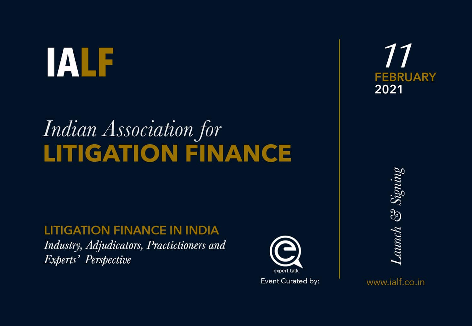 Litigation Finance in India – Panel Discussion at the IALF Launch & Signing Ceremony